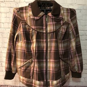 NWT Dollhouse Coat- brown and pink